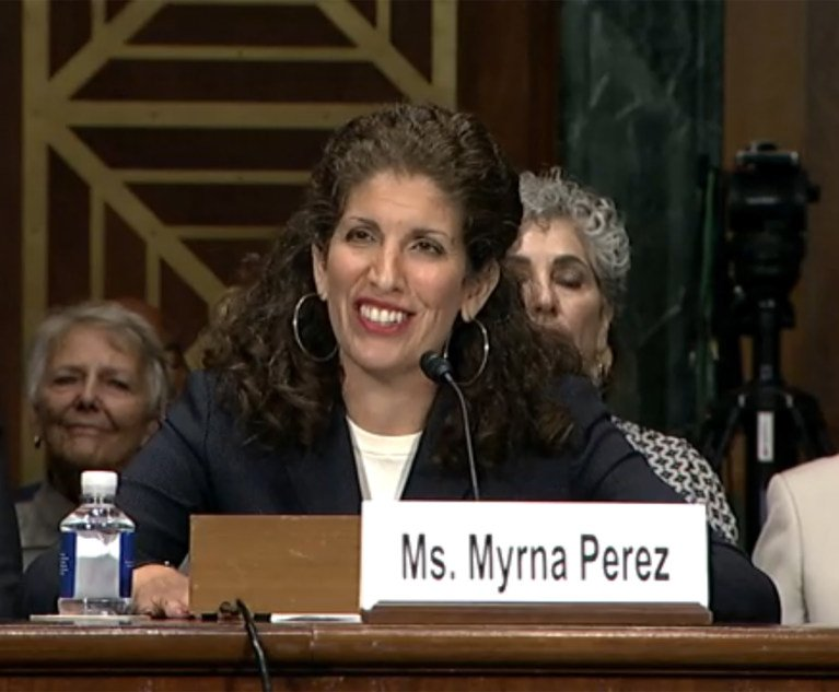 law.com - Andrew Goudsward - Senate Confirms Voting Rights Advocate Myrna Pérez to 2nd Circuit Court of Appeals | National Law Journal