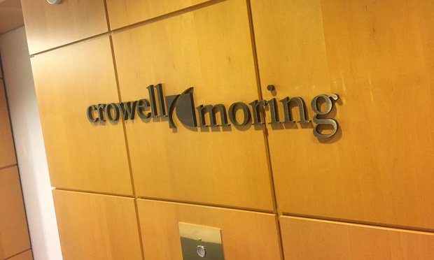 Crowell & Moring offices in Washington, D.C. January 14, 2016. Photo by Diego M. Radzinschi/THE NATIONAL LAW JOURNAL