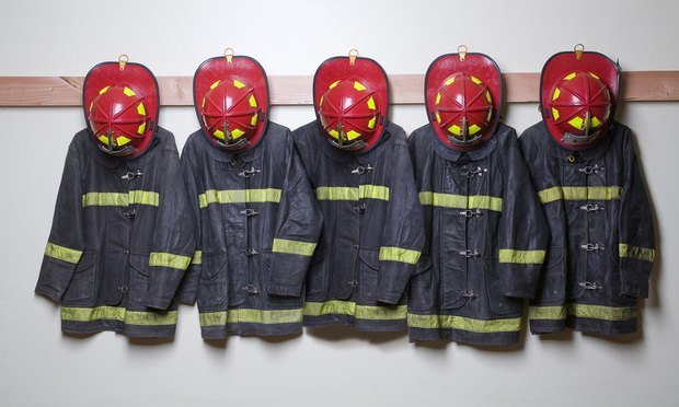 Firefighter suits and helmets