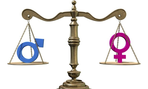 gender equality balance scale