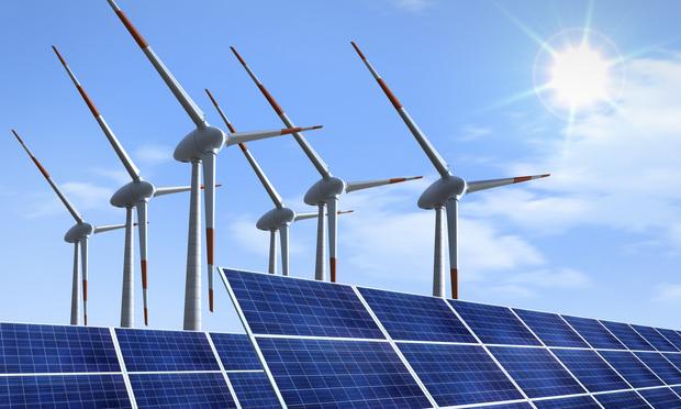 wind turbines solar panels clean energy