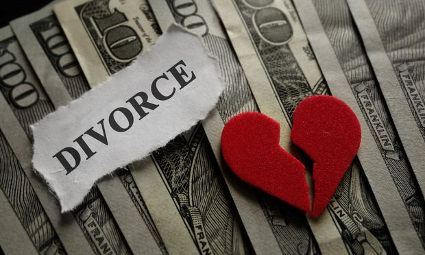 divorce money broken heart