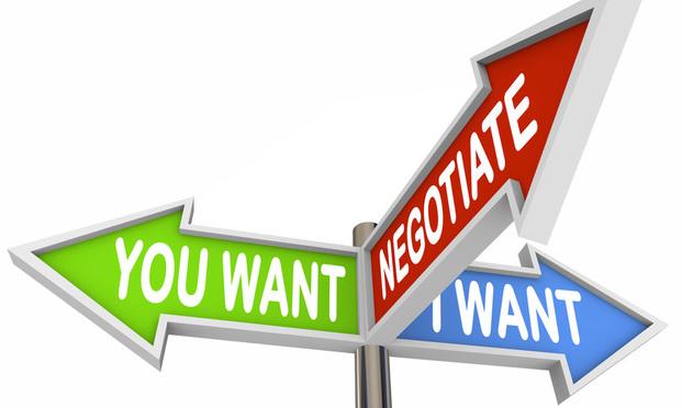 negotiation street sign negotiate