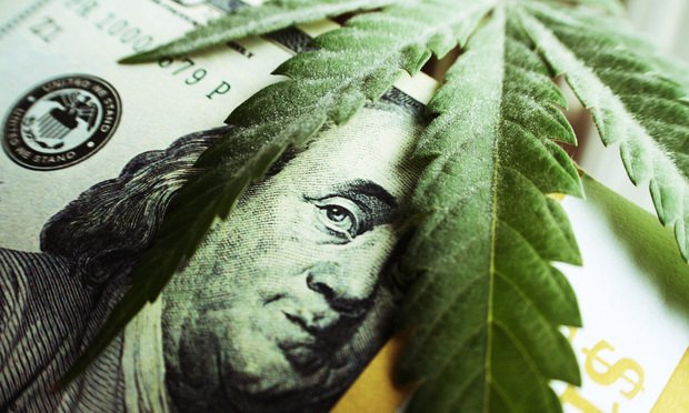 marijuana cannabis dollar Benjamin Franklin