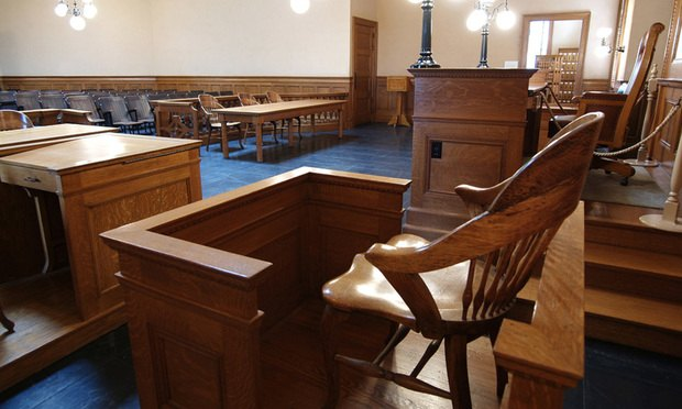 witness stand courtroom