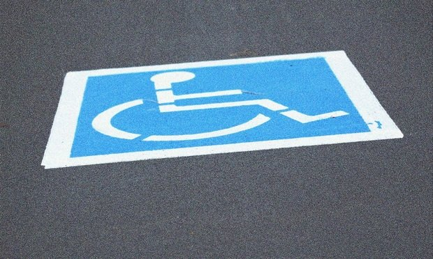 Wheelchair symbol/Photo by D. Sharon Pruitt, via Flickr