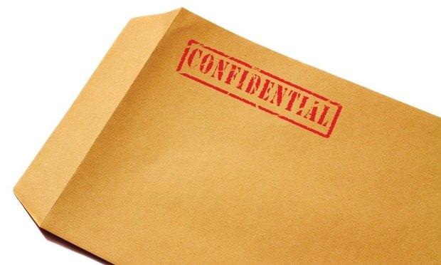 Confidential folder/courtesy of shutterstock