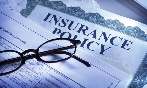 insurance policy and glasses