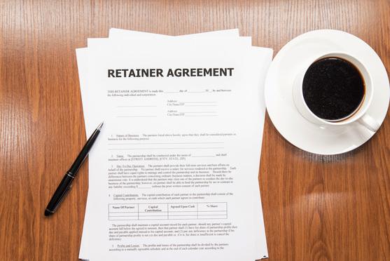 retainer agreement - Credit: de-focus/Shutterstock.com