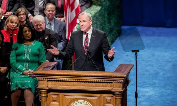 N.J. Gov. Phil Murphy speaking at his inauguration. Photo by Carmen Natale.
