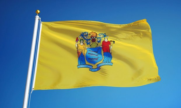 New Jersey State flag. Credit: railway fx/Shutterstock.com