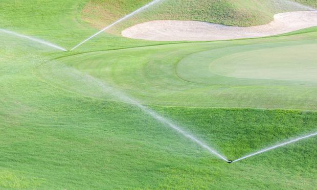 Golf course sprinklers