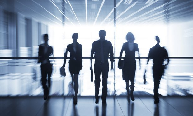 silhouettes, business people