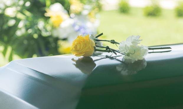 funeral, flowers on casket