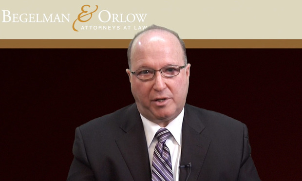 Ross Begelman of Begelman & Orlow. Courtesy video image.