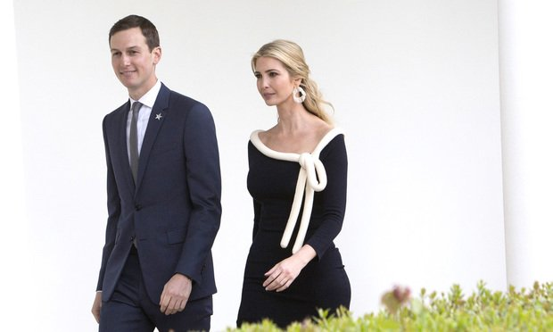 Ivanka Trump, assistant to U.S. President Donald Trump, right, and Jared Kushner.