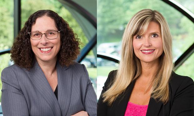 (L to R) Dorit Kressel and Tricia Gasparine, Law Firm of Chiesa, Shahinian & Giantomasi PC, West Orange, NJ.   (Photo: Steve Hockstein)