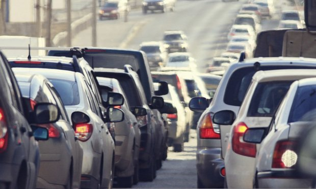 automobiles in traffic - iStock