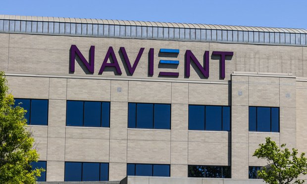 Navient Corporation sign on building