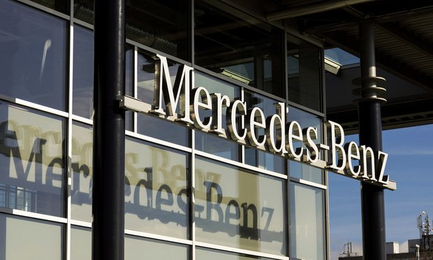 Mercedes-Benz sign.