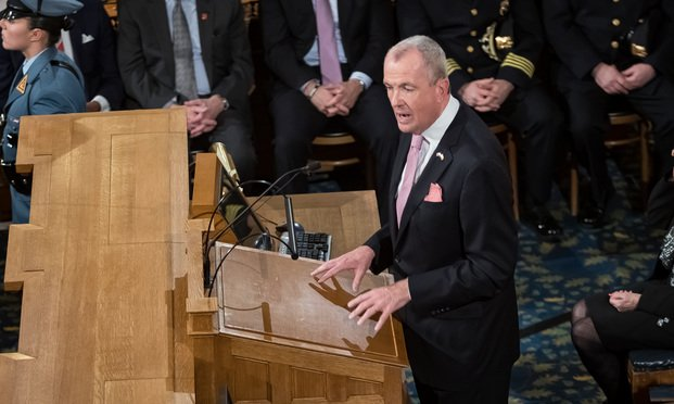 NJ Governor Phil Murphy delivers the State of the State address, Jan 14, 2020.