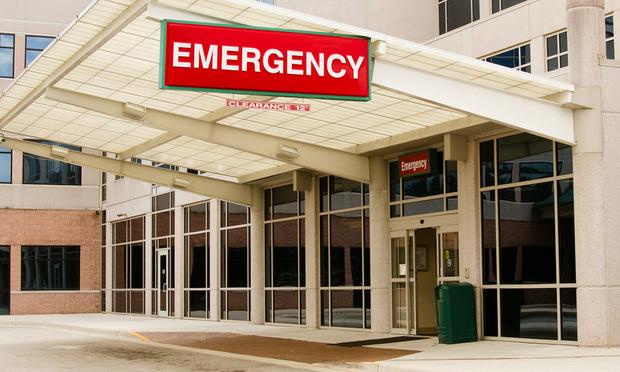 Entrance to emergency room at hospital - Shutterstock.com