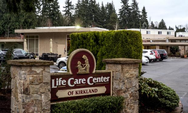 Street view of the Life Care Center of Kirkland building, ground zero of the coronavirus outbreak in Kirkland.
