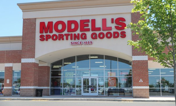 Modell's Sporting Goods store in Princeton, New Jersey.