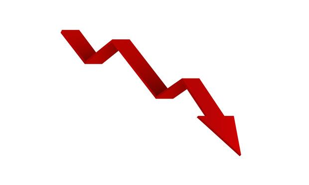 red down arrow - shutterstock.com