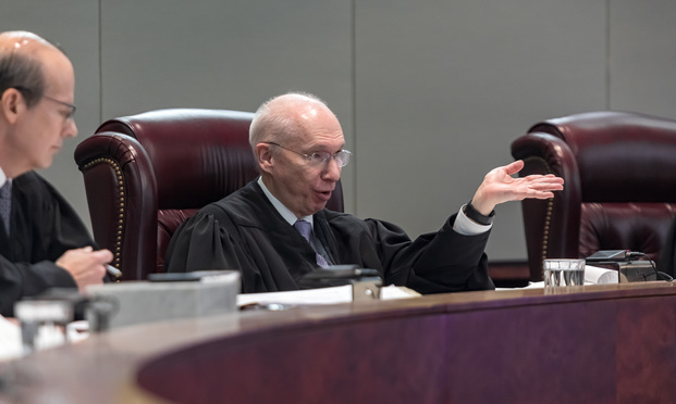Justice Barry Albin - Photo by Carmen Natale/ALM