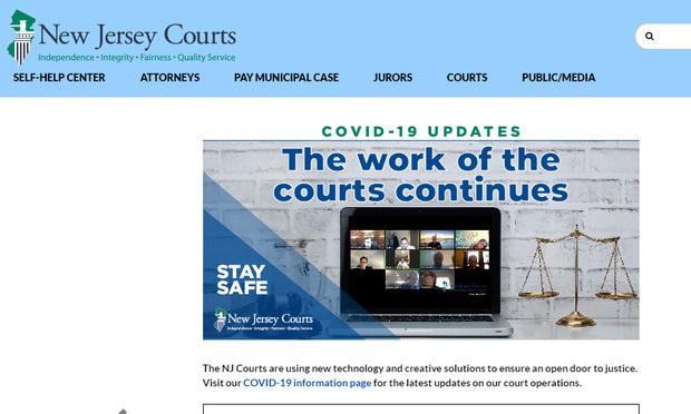 Site Web du tribunal du NJ