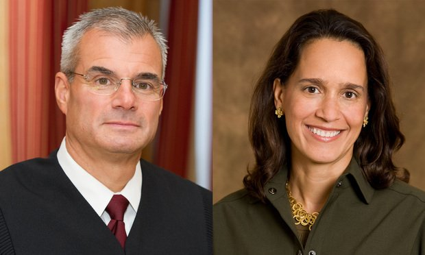 U.S. District Judges Brian R. Martinotti of the District of New Jersey, left, and Wendy Beetlestone, right, of Eastern District of Pennsylvania (Courtesy photos)