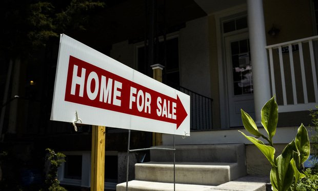 Home for sale sign in Baltimore, MD. June 1, 2020. Photo: Diego M. Radzinschi/ALM