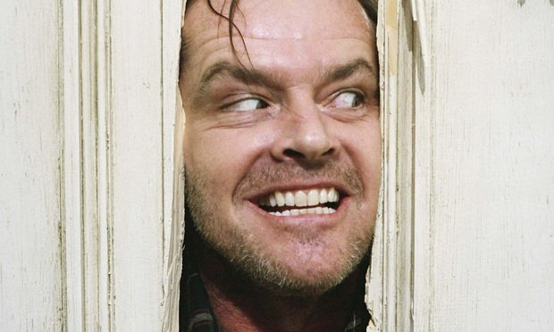 "Jack Nicholson as Jack Torrance in Stanley Kubrick's ""The Shining."" Courtesy of Warner Bros..."