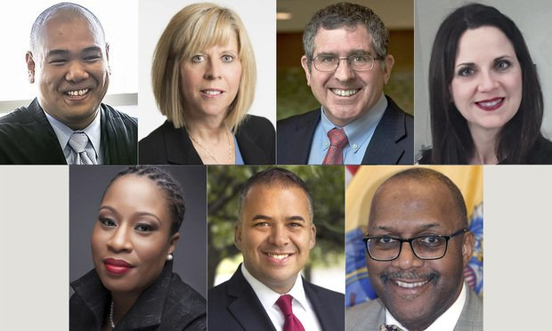 Top row, left to right: Carlo Abad of Jersey City; Stacey Boretz of Westfield; Bruce D. Buechler of West Orange; Rosalba L. Comas of Mountainside. Bottom row, left to right: Dara Govan of Plainfield; Michael A. Jimenez of North Bergen; Alvin Ricardo Little of Maplewood. Courtesy photos.