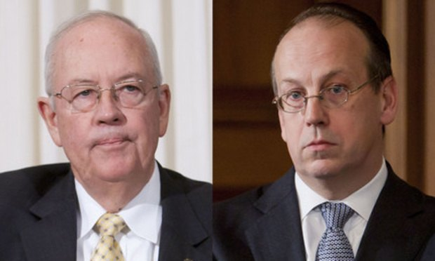 Kenneth Starr (left) and Paul Clement (Photos: Diego M. Radzinschi/ALM)