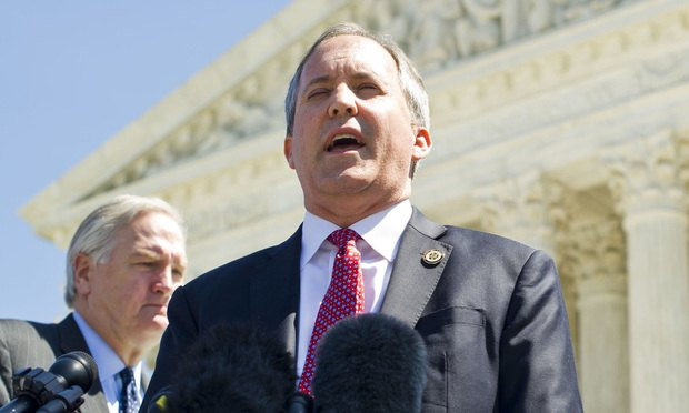 Texas Attorney General Ken Paxton (Photo: Diego M. Radzinschi/ALM)