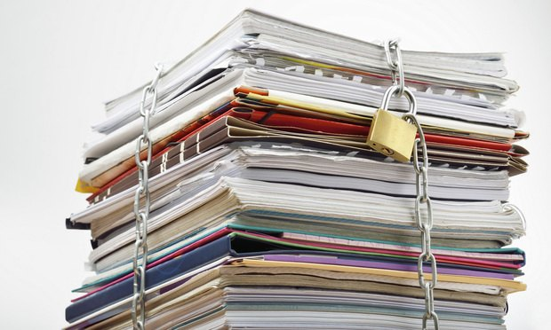 Tips For Protecting Confidential Documents And Records Texas Lawyer - Law documents