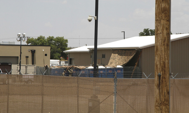 Border Patrol child detention center in Clint, Texas