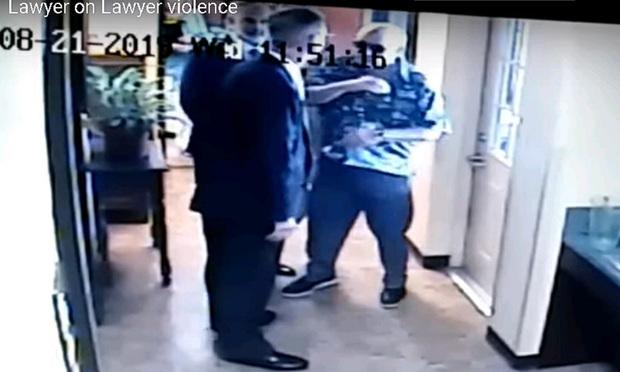 Ronny Krist slapping Greg Enos