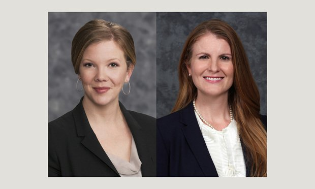 Leslie Thorne, left, and Emily Westridge, right, partners with Haynes and Boone in Austin.