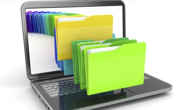 laptop and computer files