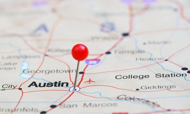 Map of Austin and Central Texas