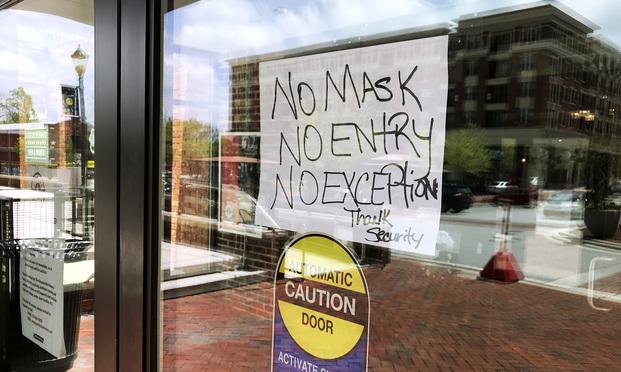 Coronavirus Mask Sign Article 202005121718.'