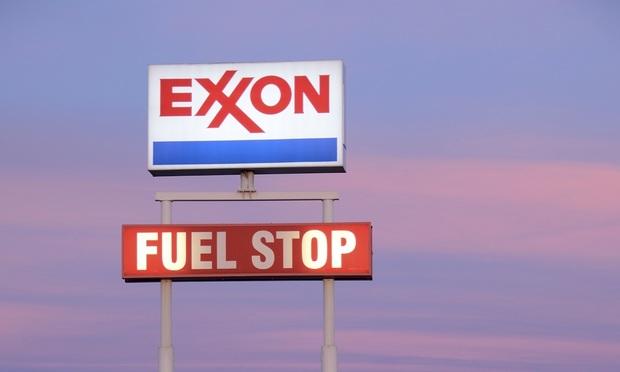 Exxon Fuel Stop sign