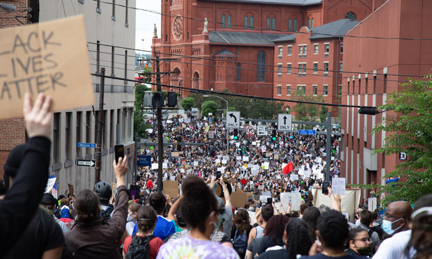 Black Lives Matter protest, in Pittsburgh, Pennsylvania