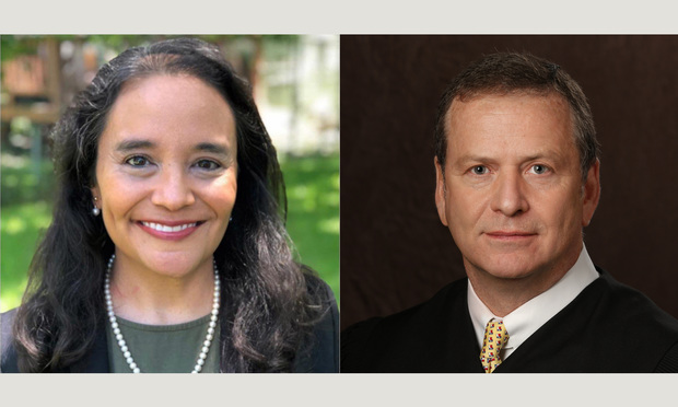 Judge Dennise Garcia,left, and Justice Bill Whitehill,right,. Courtesy photos