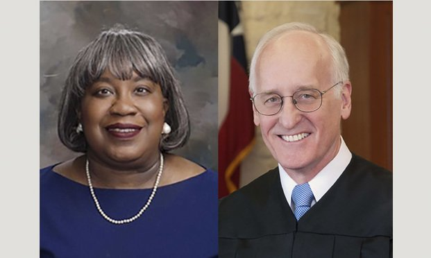 Cheryl Elliott Thornton, left, is running against Michael Landrum, right, of the 164th District Court. Courtesy photos