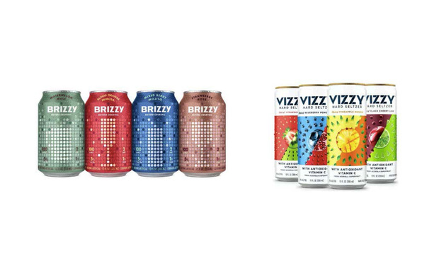 Brizzy and Vizzy cans. Photos from court opinion in Future Proof Brands v. Molson Coors Beverage Co.