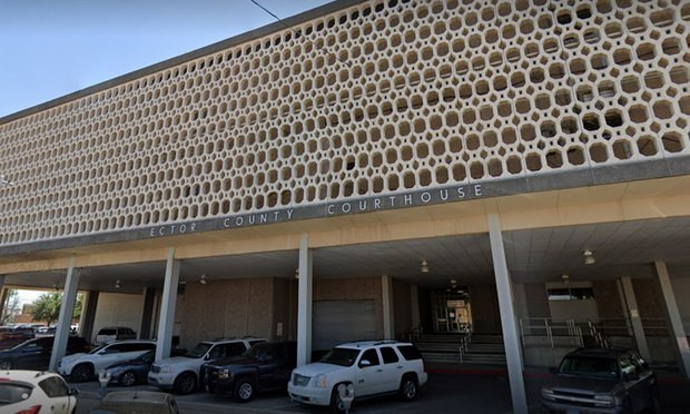 Ector County Courthouse at 300 North Grant, Odessa, Texas. Photo: Google